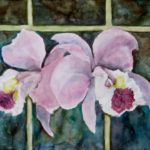 Alfredo Roces, Two Cattleyas, Watercolor, 2017, 57x77.5 cm