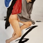 BenCab, Draped Figure, Watercolor, 2017, 56x76 cm