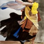 BenCab, Sabel in Motion, Watercolor, 2016, 76x56 cm