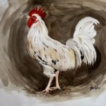 BenCab, Year of the Rooster, Watercolor, 2017, 56x76 cm