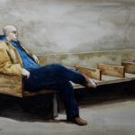 Elmer Borlongan, 50th Street Subway Station, Watercolor on paper, 2017, 48x63.5cm