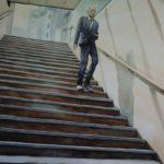 Elmer Borlongan, Tenjin Commuter, Watercolor on paper, 2016, 48x63cm