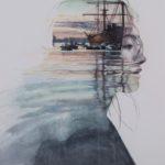 Abi Dionisio, Ballast 1, Watercolor on paper, 2017, 72.5x53.5 cm