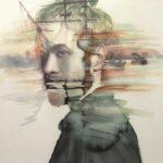 Abi Dionisio, Ballast 4, Watercolor on paper, 2017, 72.5x53.5 cm