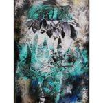 Olan Ventura, SinEaster XI, Acrylic on canvas, 2017, 91.5x61 cm