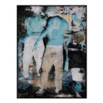 Olan Ventura, SinEaster XII, Acrylic on canvas, 2017, 61x45.5 cm