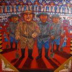 Leonard Aguinaldo, Vigilante, Acrylic on cloth, 2016, 128x128 cm
