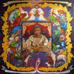 Leonard Aguinaldo, Cosplay, Acrylic on cloth, 2016, 128x128 cm