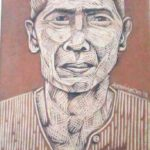 Leonard Aguinaldo, Subjects, Portrait of Lowland Filipinos 33, Uncolored carved rubber, 2016, 22x14.5 cm