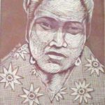 Leonard Aguinaldo, Subjects, Portrait of Lowland Filipinos 5, Uncolored carved rubber, 2016, 22x14.5 cm