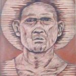 Leonard Aguinaldo, Subjects, Portrait of Lowland Filipinos 37, Uncolored carved rubber, 2016, 22x14.5 cm