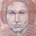 Leonard Aguinaldo, Subjects, Portrait of Lowland Filipinos 39, Uncolored carved rubber, 2016, 22x14.5 cm