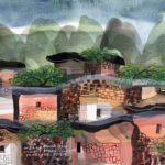 Manuel Baldemor, Birthplace Watercolor, 2018, 10.5 x13.5in
