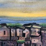 Manuel Baldemor, Dawn, Watercolor, 2018 10.5x13.5in
