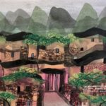 Manuel Baldemor, Splendor of the Old Stone Village, Watercolor, 2018 10.5x13.5in