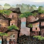 Manuel Baldemor, Timeworm Community, Watercolor, 2018, 10.5x13.5in