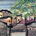 Manuel Baldemor, Trees in Bloom, Watercolor, 2018 10.5x13.5in