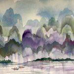 Manuel Baldemor, Cormorant Fishermen, Watercolor, 2018, 15x22in