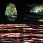 Manuel Baldemor, Fantastic Night Performance Show, Watercolor, 2018, 15x22in