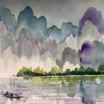 Manuel Baldemor, Fishermens' Haven, Watercolor, 2018, 15x22in
