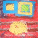 Jeff van den Broeck, Triangle Still Missing, Clay monoprint, 2017