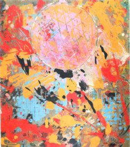 Jeff van den Broeck, Aurora, Clay monoprint, 2012