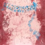 Jeff van den Broeck, The Wrestler, Clay monoprint, 2012
