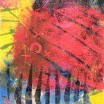 Jeff van den Broeck, Church Yard, Clay monoprint, 2016