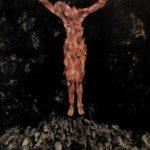 Art Sanchez, Faith Fake Fade, Acrylic & collage in clear cast resin
