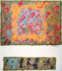 Jeff van den Broeck, Two Worlds, Clay monoprint, 2017