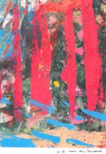 Jeff can den Broeck, Hidden Wolf, Clay monoprint, 2016