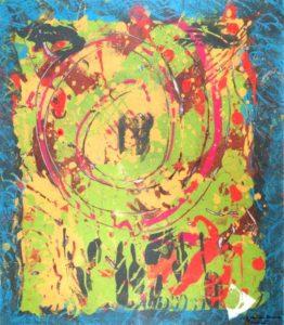 Jeff van den Broeck, Zodiac, Clay monoprint, 2012